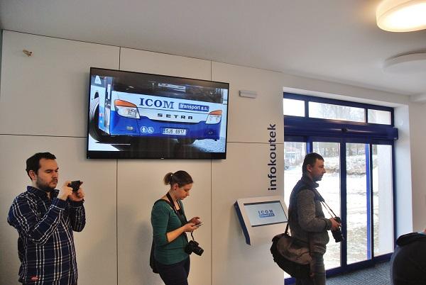 Elektronické informační panely pro cestující (foto: Zdeněk Nesveda)