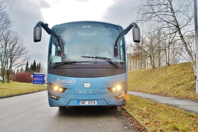 ISUZU VISIGO dobrý příklad vysoce efektivního autobusu na českém trhu (foto: Zdeněk Nesveda)