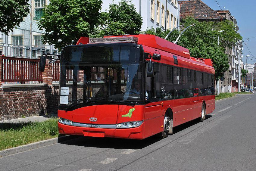 Nové trolejbusy Škoda pro Budapešť budou mít však nové karoserie Solaris Urbino 4. generace (ilustrační foto Škoda Electric)