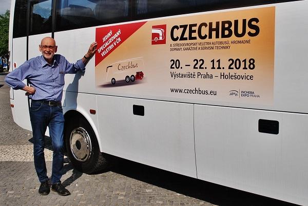 CZECHBUS 2018 - Položil jsem pár otázek PhDr. Janu Novotnému, ze společnosti INCHEBA EXPO PRAHA (foto: Zdeněk Nesveda)