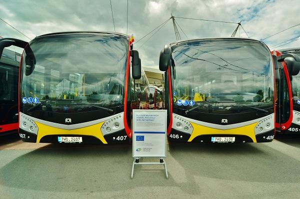 Město Hradec Králové disponuje největší elektrobusovou flotilou v Česku. (foto:DPMHK)