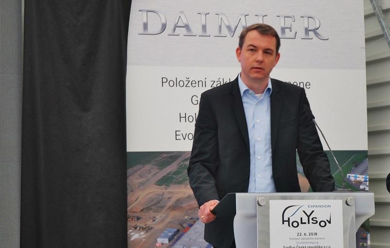 Simon Schneider, vedoucí, projektu rozšíření závodu Holýšov (foto: Zdeněk Nesveda)