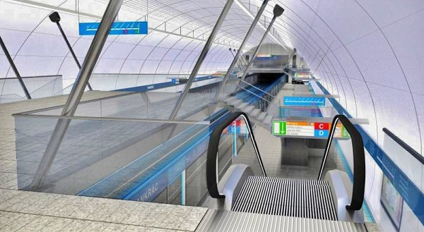 Vizualizace trasa D (obrázek: DPP)