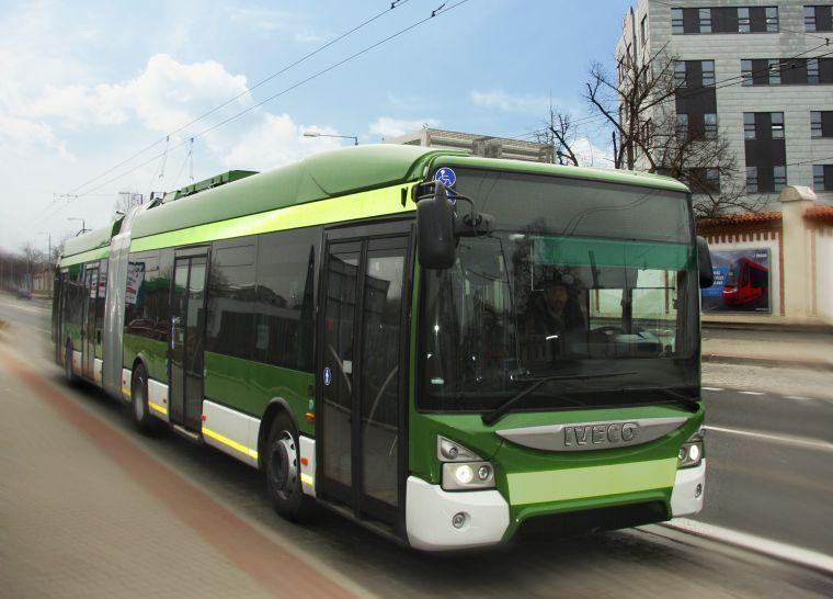První sériově vyrobený trolejbus s karoserií UrbanWay od firmy Iveco (foto: Škoda Electric)