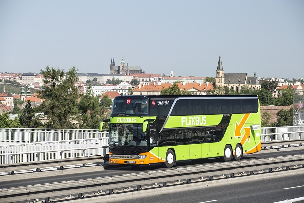 Praha je skutečně významný dopravní uzel, západ - východ (foto: FlixBus)