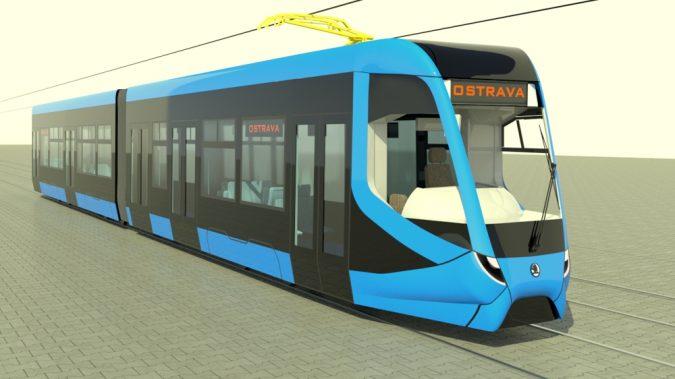 Vizualizace tramvaje ŠKODA ForCity Smart, která by se měla objevit v Ostravě v roce 2020 (foto: Škoda Transportation)