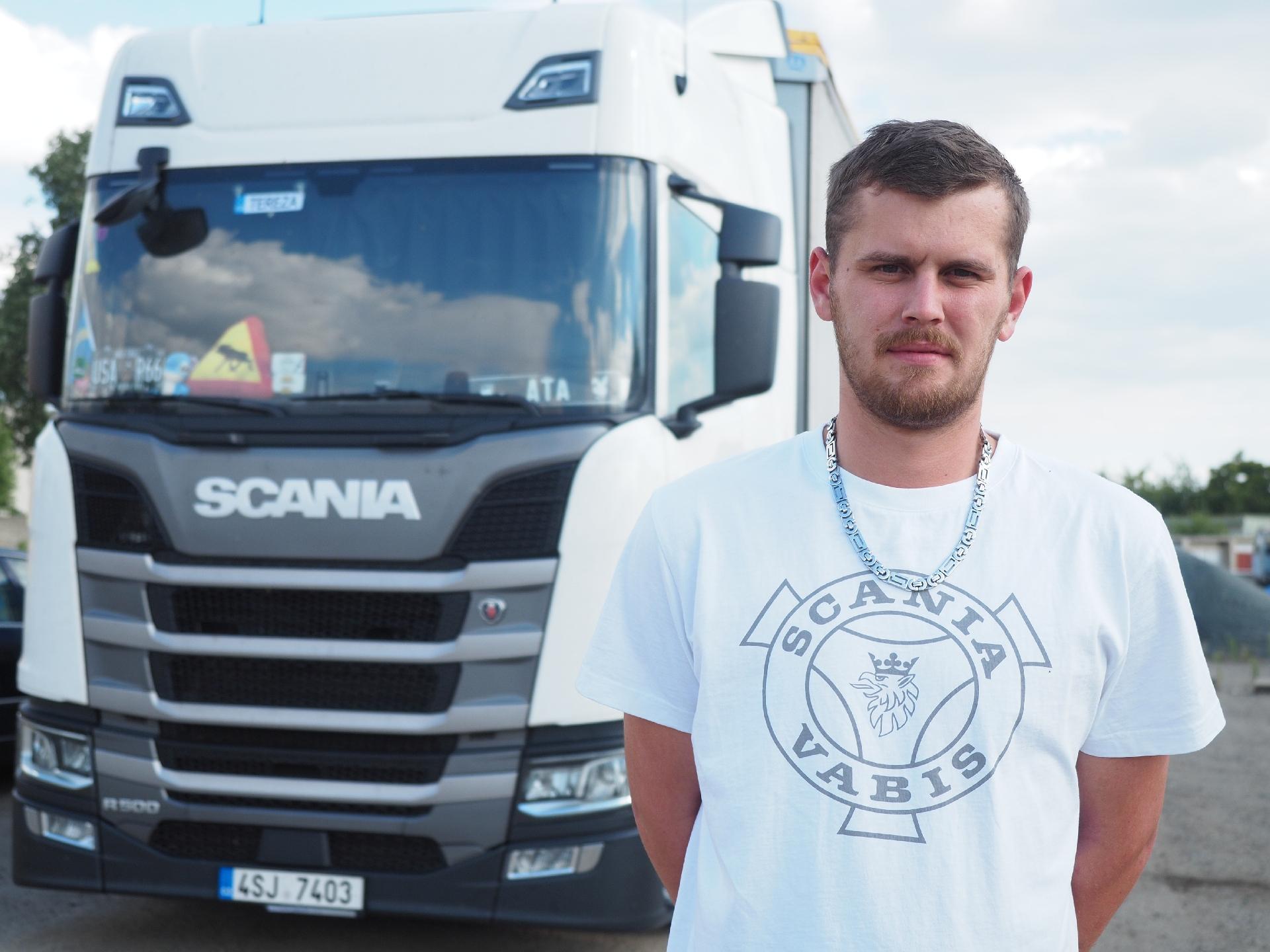 Vítěz soutěže Scania CO2NTROL CUP 2018 Vlastimil Schimmel se svým vozidlem Scania R 500 (foto: Scania)