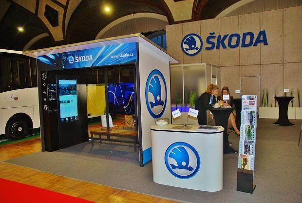 Expozice Škoda Electric na veletrhu CZECHBUS 2018 (foto: Zdeněk Nesveda