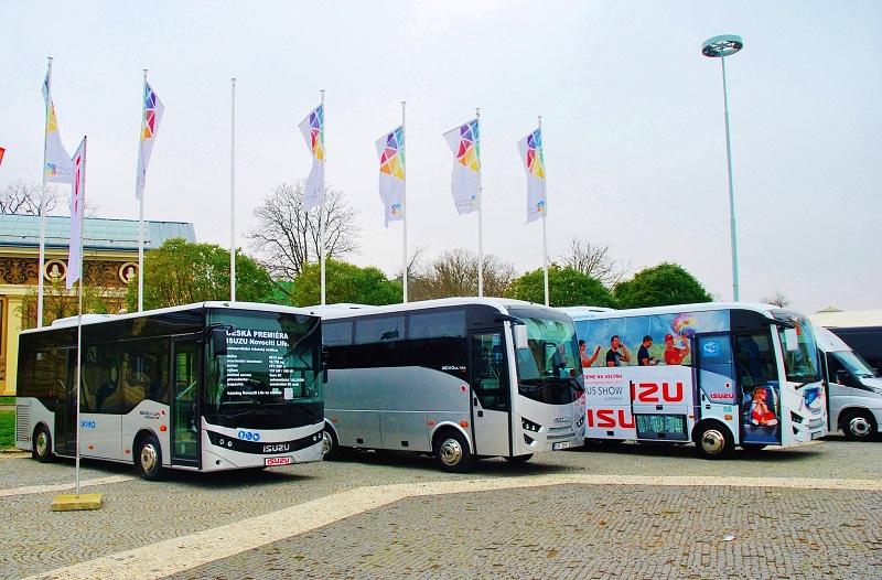 Autobusy ISUZU na veletrhu CZECHBUS 2018 (foto: Zdeněk Nesveda)