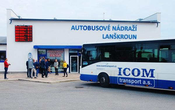 Nové moderní autobusové nádraží v Lanškrouně slavnostně otevřel ICOM transport 30. srpna 2019 (foto: Zdeněk Nesveda)
