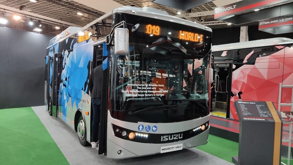ISUZU NovoCiti Volt elektrický autobus s nulovými emisemi, v expozici Anadolu Isuzu na veletrhu BUSWORLD 2019 v Bruselu  (foto: Anadolu ISUZU)