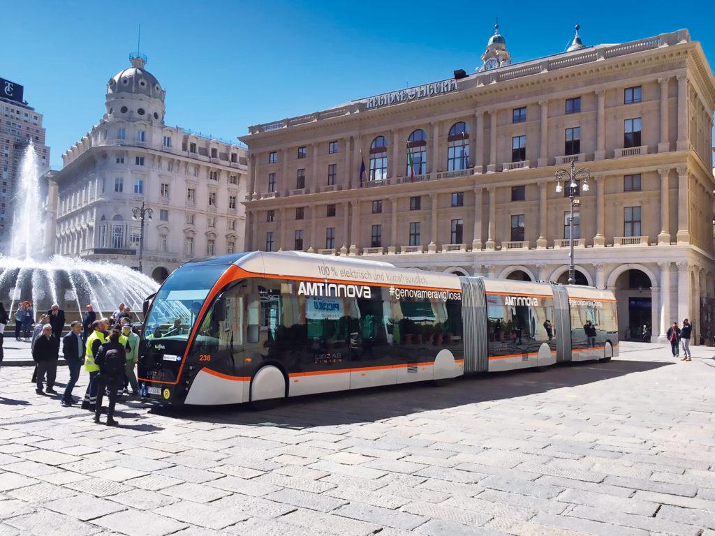 Příklad velkokapacitního trolejbusu, délka 24 m v rakouském Linci (foto: AG Linz)