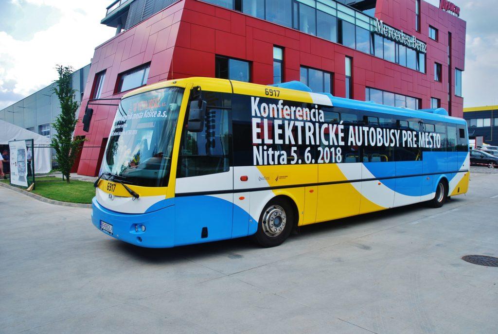 Elektrobus SOR Dopravného podniku Košice na BUS SHOW zdravá doprava 2018 v Nitře (foto: Zdeněk Nesveda BusPress)