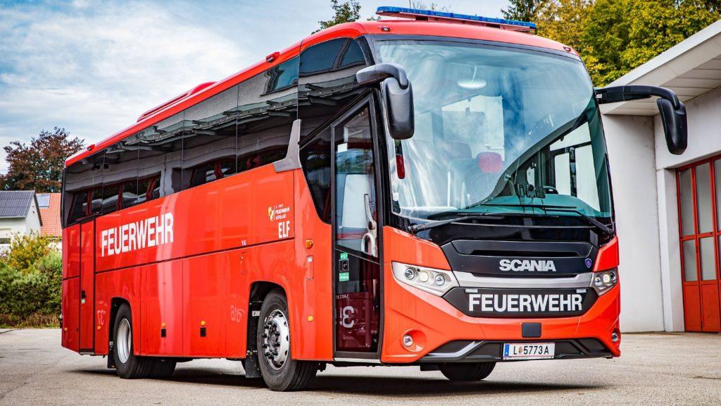 Autobus Scania Hasiči